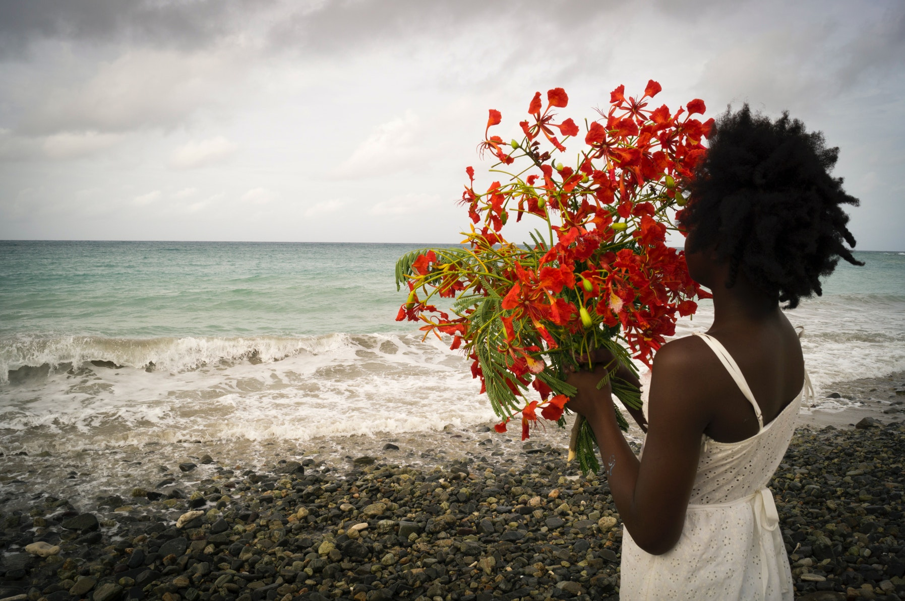 """Untitled (looking out) from the series """"what is the value of water if it doesn't quench our thirst for..."""" by Deborah Jack"""