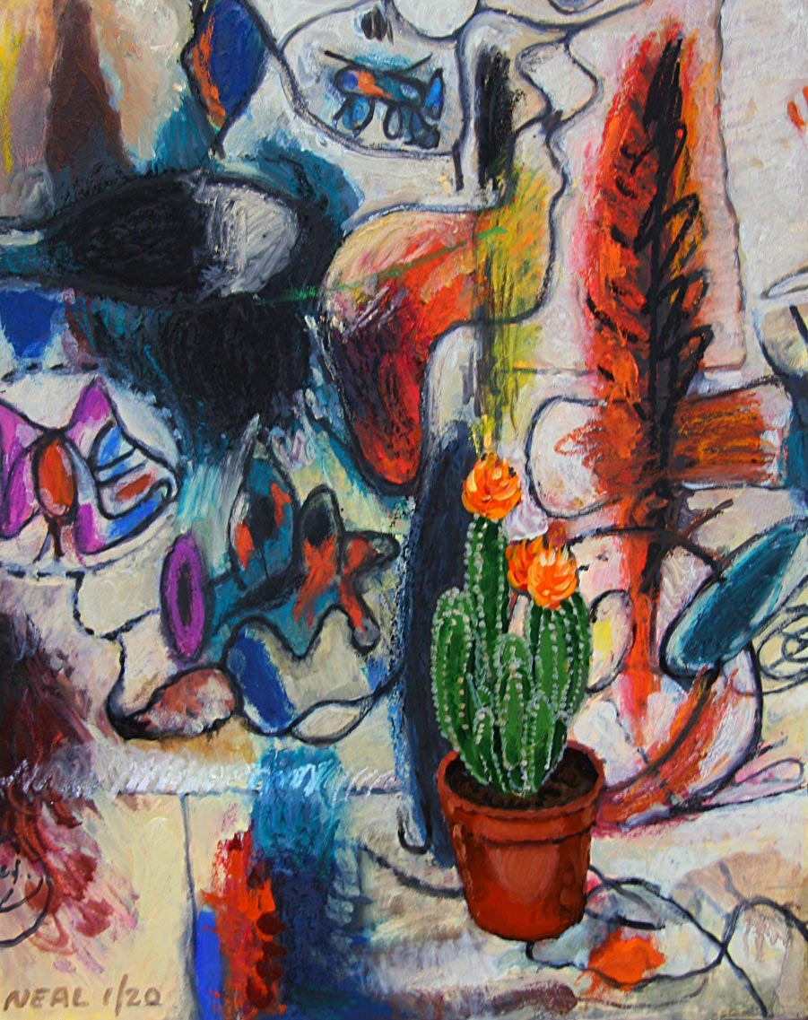 Gorky with cactus by Patrick Neal