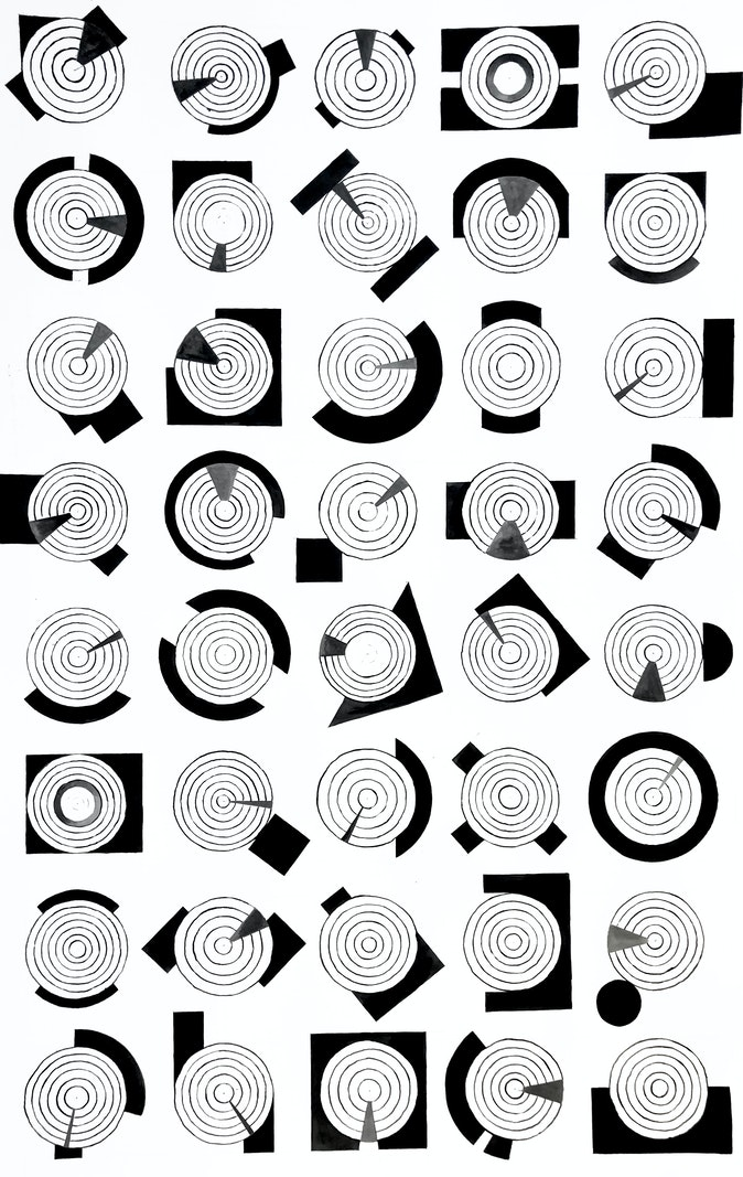 Artwork – Considered As Counting - drawing ii, 2020