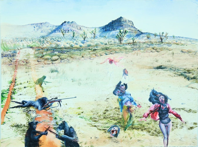 Artwork – Untitled (running with apes), 2014