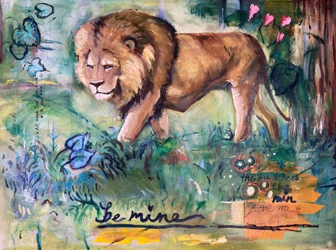 Artwork – Love Letters to a Lion, 2021