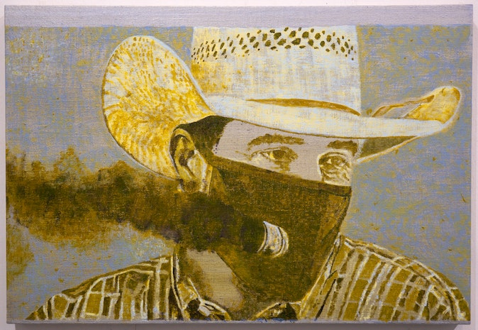 Artwork – Texas Man Outfits Face Mask with Exhaust Pipe to Roll Coal, 2020