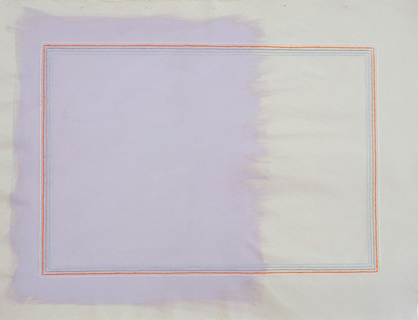 Grape Suede With Pale Pink Rectangle by Emily Keating Snyder
