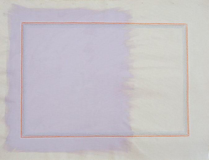 Artwork – Grape Suede With Pale Pink Rectangle, 2019