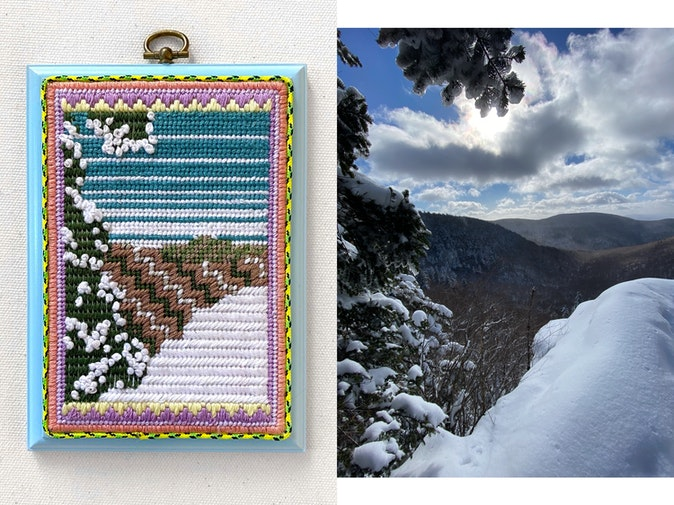 Artwork – Becca Van K, Should've Brought My Snowshoes (Catskill Mountains, NY), 2021