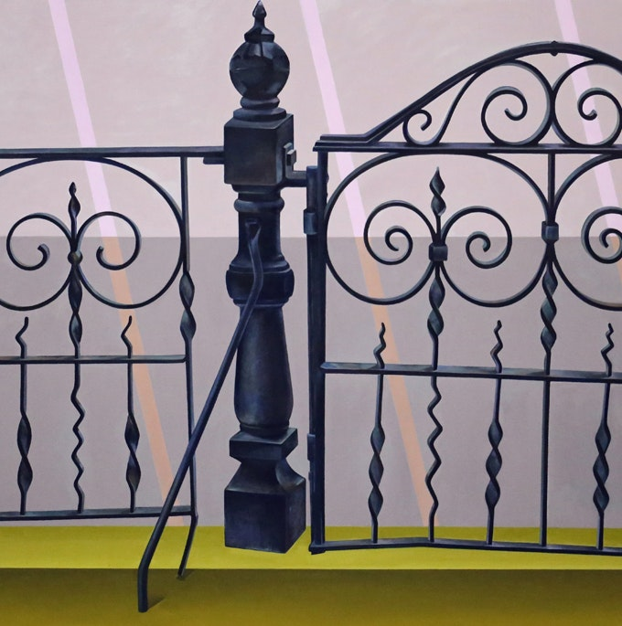 """Stacie Johnson, """"Front Gate"""" by Elijah Wheat Showroom"""