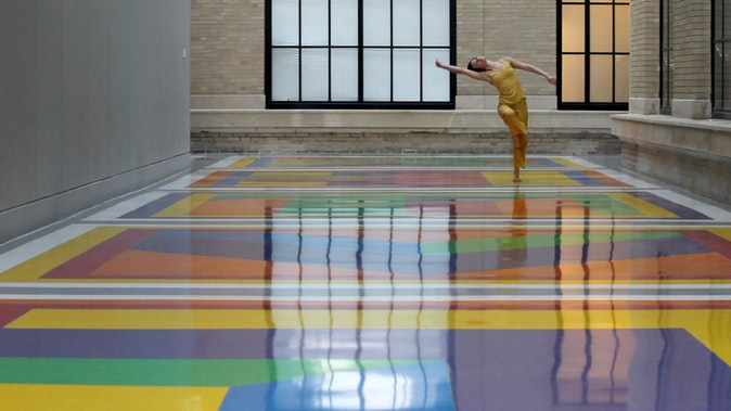 Artwork – (1) Perspectives on a dance in Sol Le Witt's 'Bars of Color within Squares' (MIT) 2010-2011, 2011
