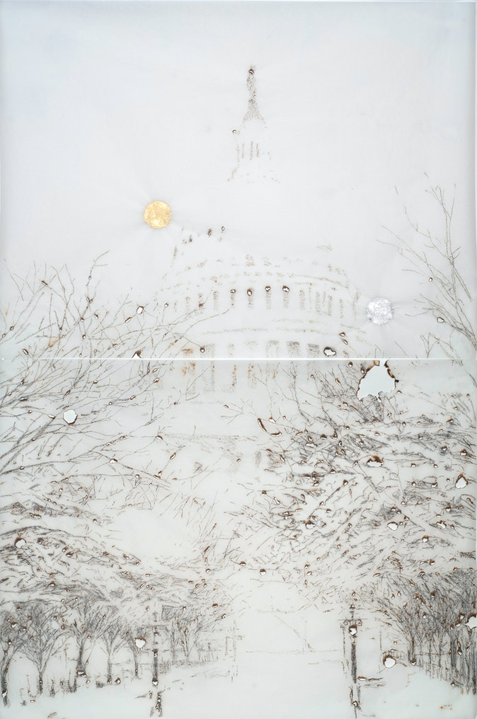Artwork – US Capitol in the snow, 2013