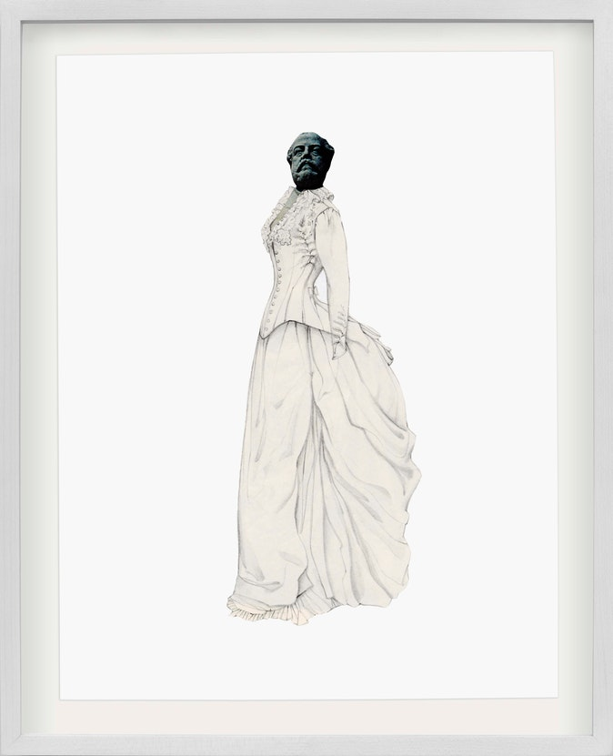 Artwork – Collage #7— from the series Brides & Statues, 2017