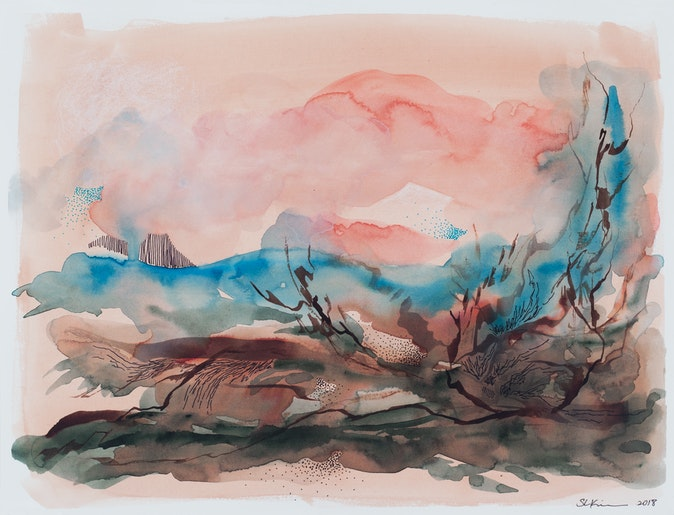 Artwork – Thoughts Gathered From a Desert Hike, No.2, 2018