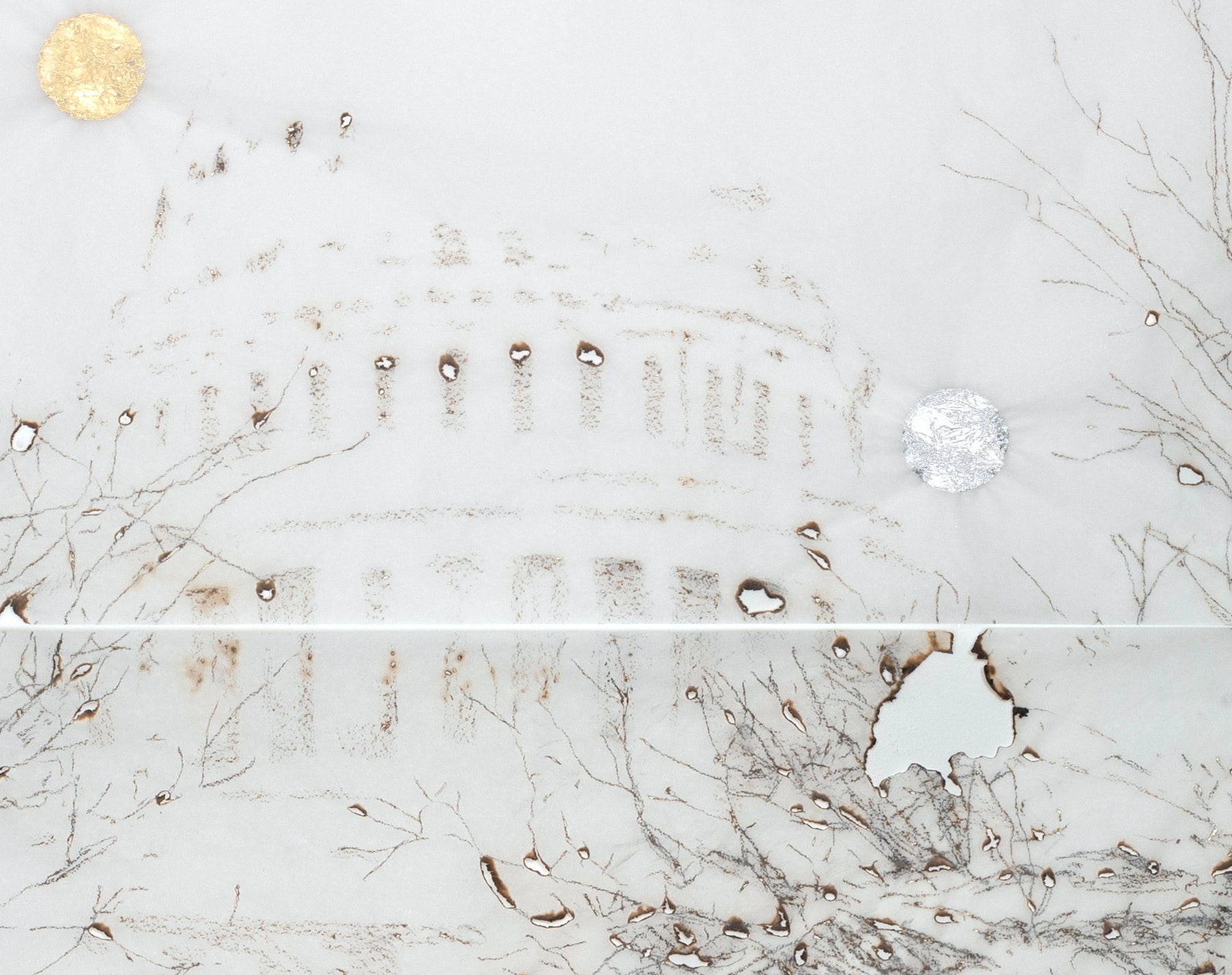 US Capitol in the snow by Davide Cantoni