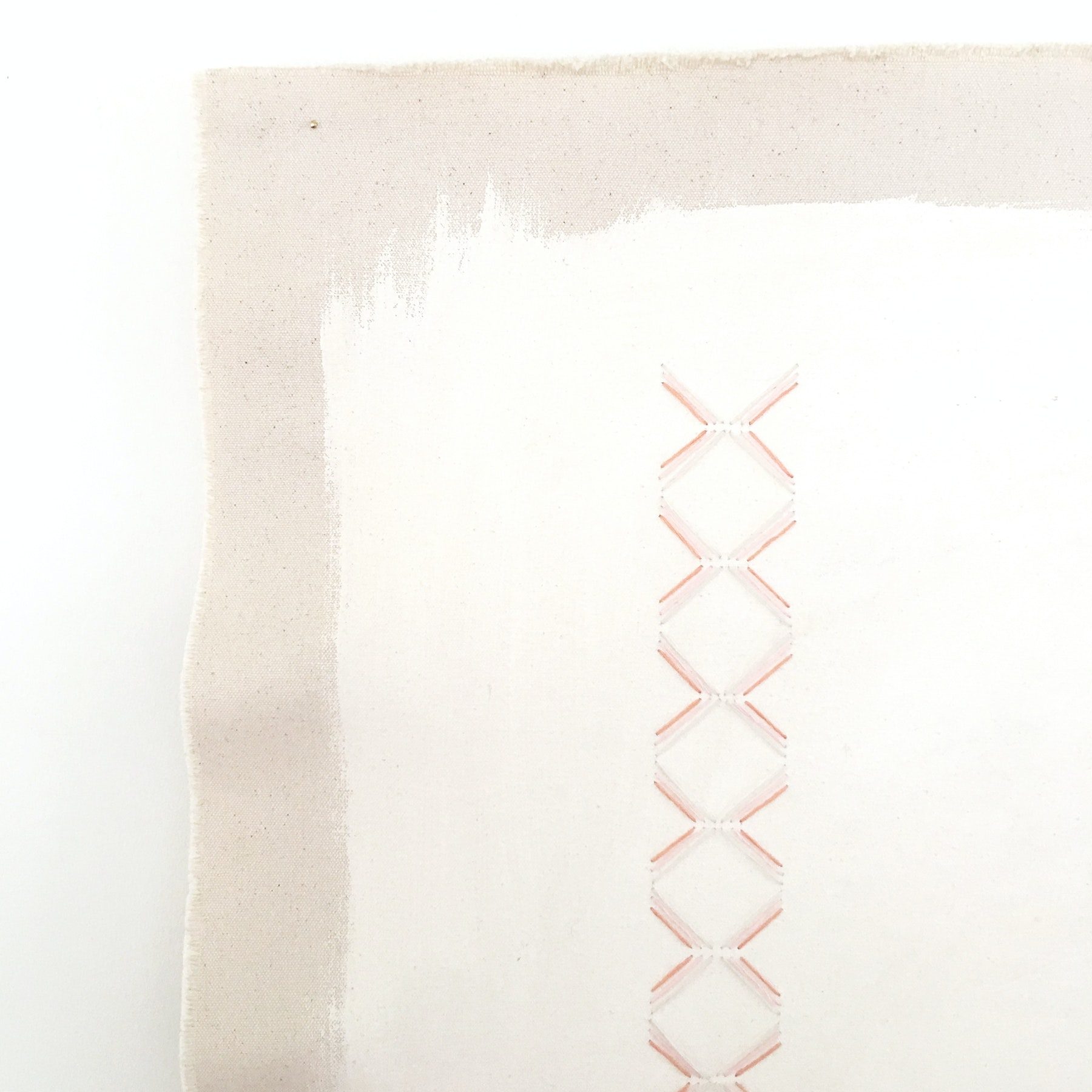 Cream With Pink Clay Small Triangles by Emily Keating Snyder