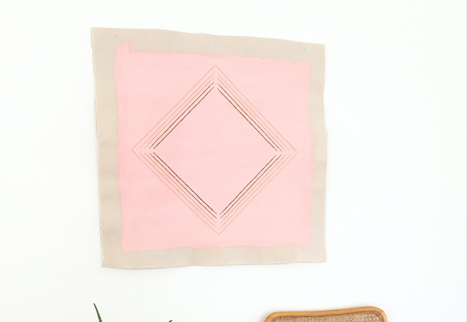 Pink With Peach Diamond by Emily Keating Snyder